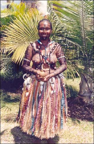 kerema dancer of PNG.