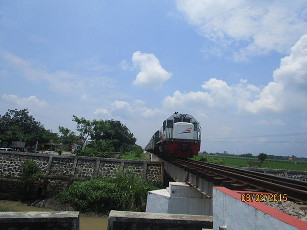 Kereta api Sri Tanjung.