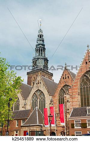 Stock Photograph of Oude Kerk, Amsterdam, Holland k25451889.