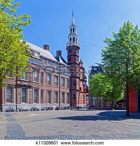 Clipart of Grote Kerk (Big Church), Hague, Holland k11328601.