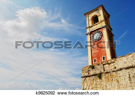 Stock Photo of Kerkira red tower k9825092.
