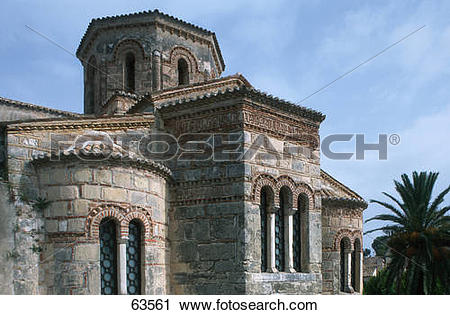 Stock Photography of Ancient building against cloudy sky, Kerkira.