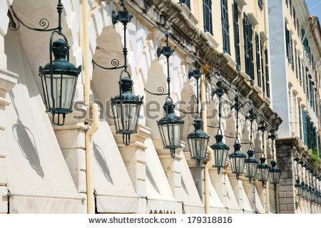 Corfu Town Details Stock Photos, Royalty.