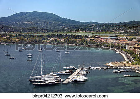 Stock Photo of Marina with yachts, Corfu, Kerkyra, Unesco World.