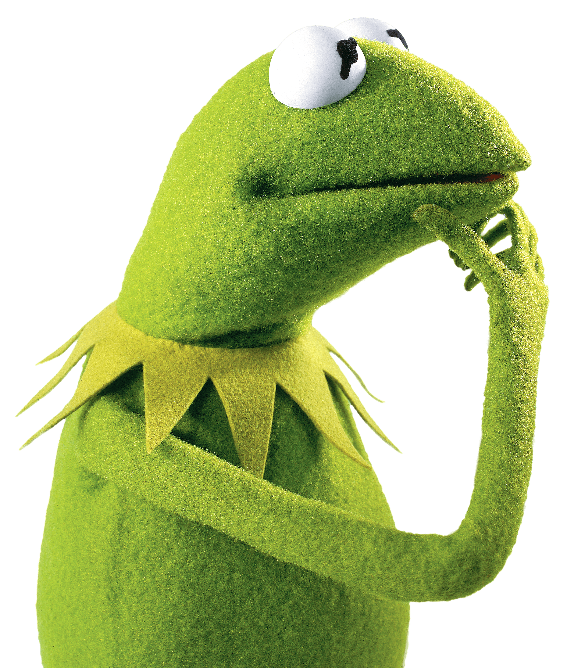 Kermit the Frog Thinking transparent PNG.