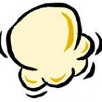 Popcorn Kernels Outline Clipart.