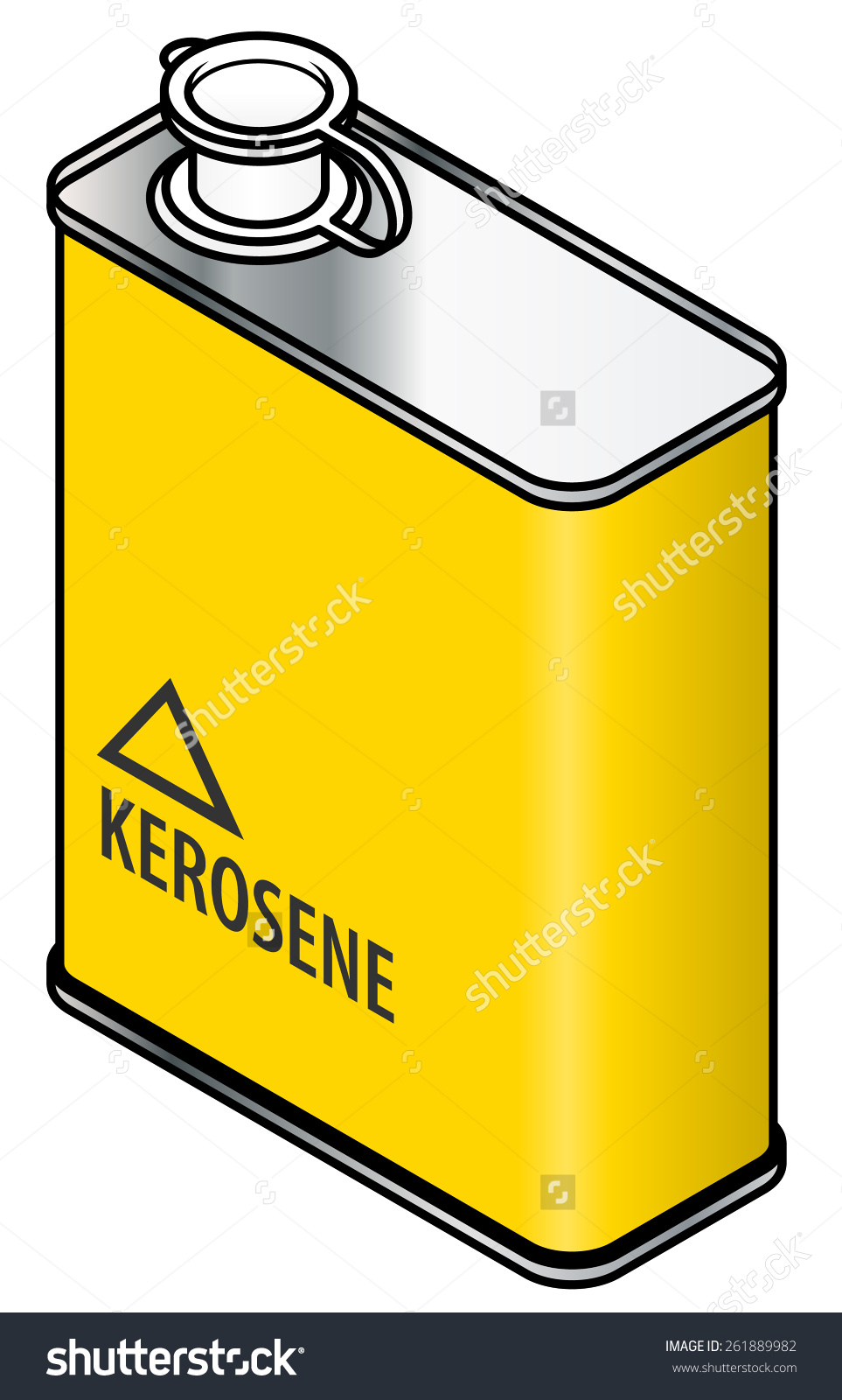 Yellow Rectangular Metal Tin Kerosene Stock Vector 261889982.