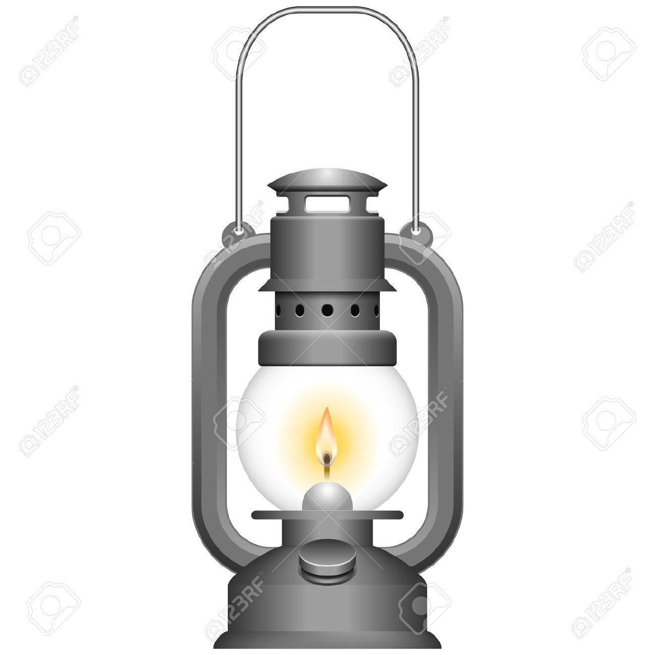 Kerosene lamp clipart.