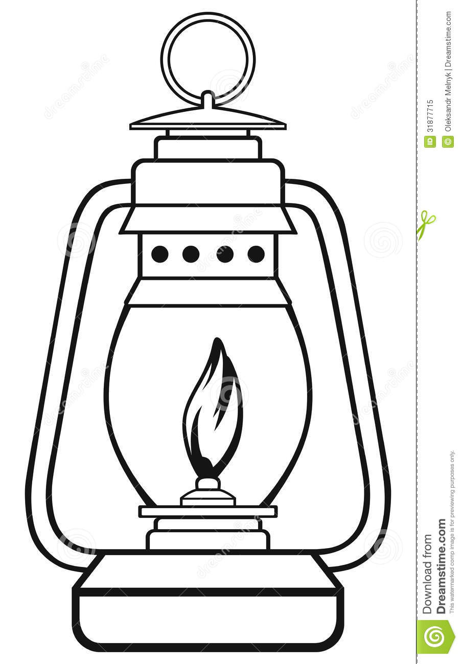 paraffin lamp clipart