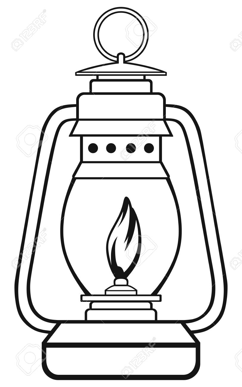 lamp clipart black and white - photo #39