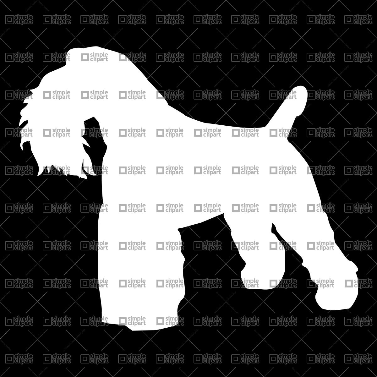 Silhouette of Kerry Blue Terrier Vector Image #21584.