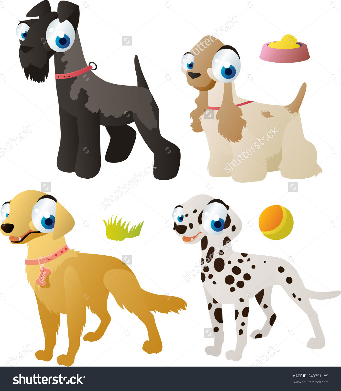 Kerry Blue Terrier Clipart.