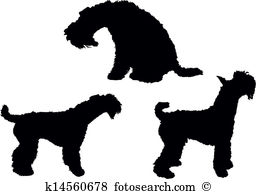 Kerry blue terrier Clipart Royalty Free. 2 kerry blue terrier clip.