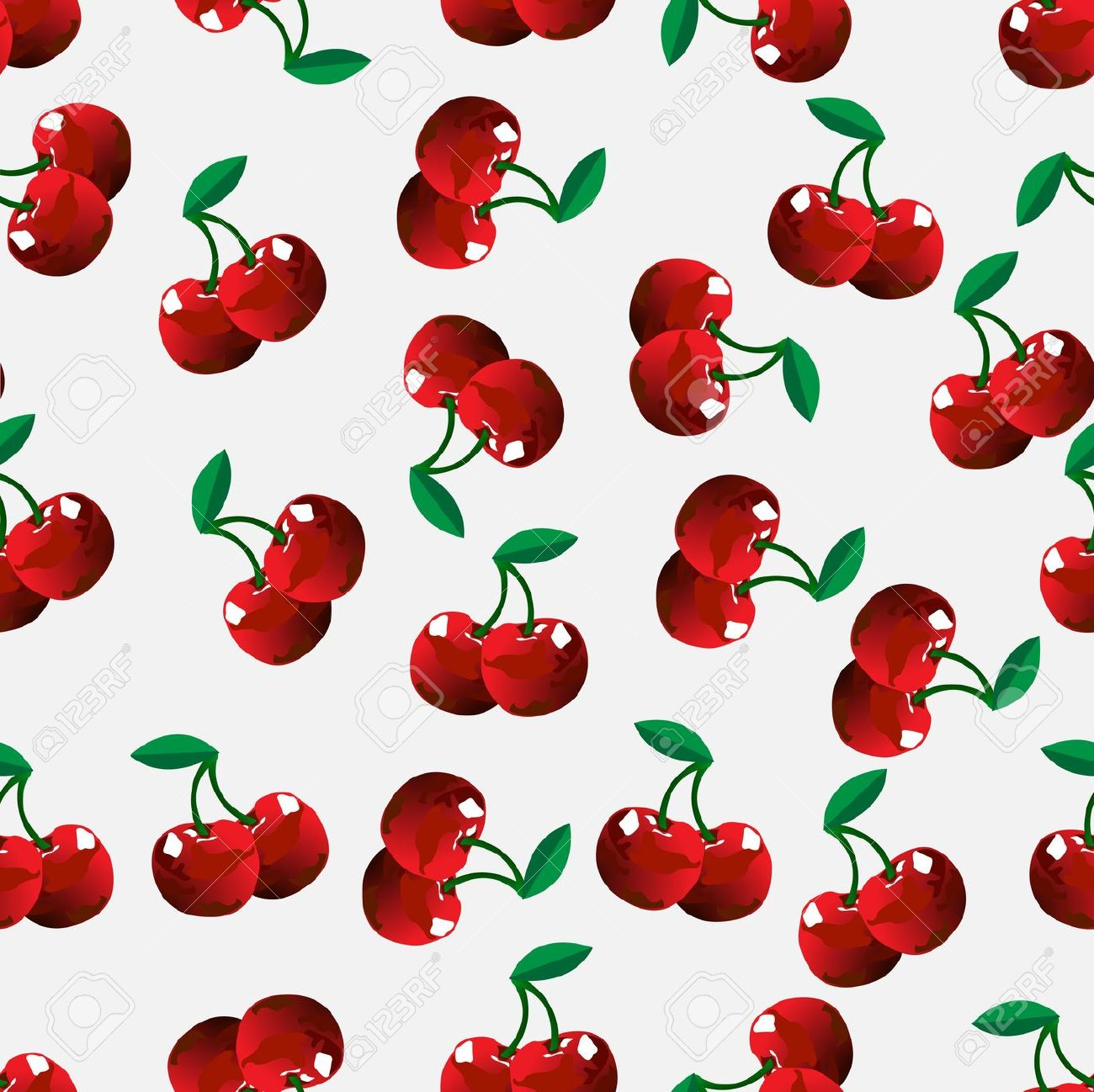 Seamless Cherry Background. Vector Illustration Royalty Free.