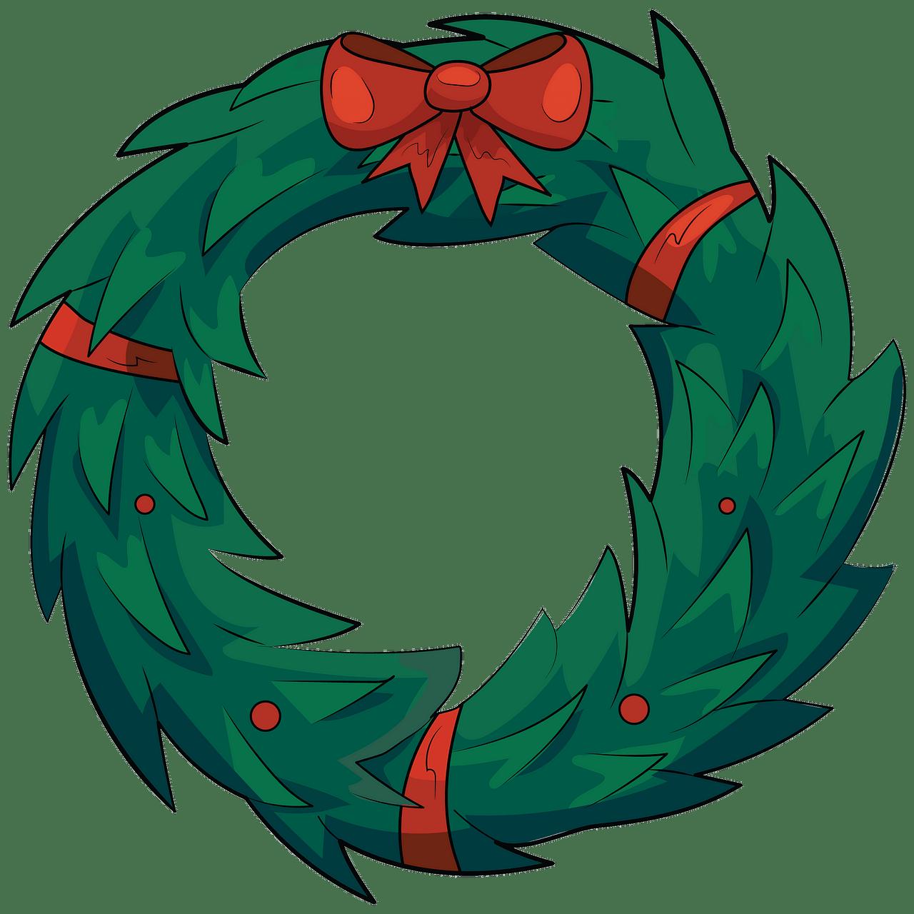 Kerst krans clipart. Gratis download..