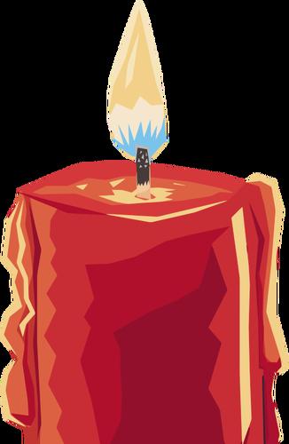 Brennende Kerze ClipArt.