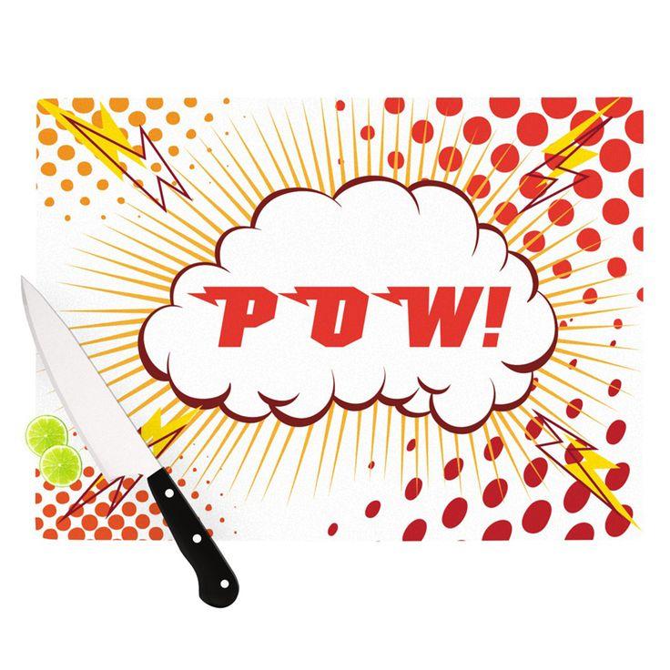 """KESS Original """"POW!"""" Cartoon Cutting Board."""