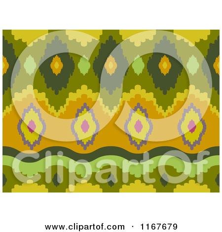 Cartoon of a Seankess Ikat Print Pattern.