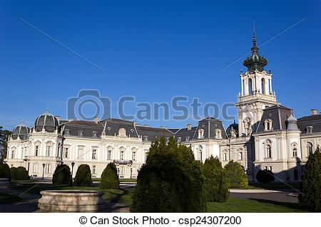 Stock Photography of Festetics castle, Keszthely, Balaton lake.