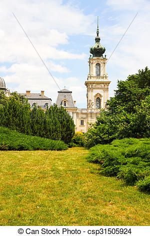 Stock Photo of Famous castle in Keszthely, Hungary, Europe.