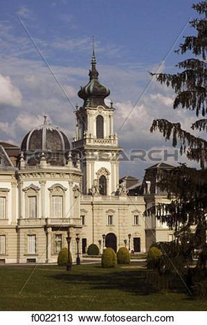Stock Photo of Hungary, Keszthely, Festetics Castle f0022113.