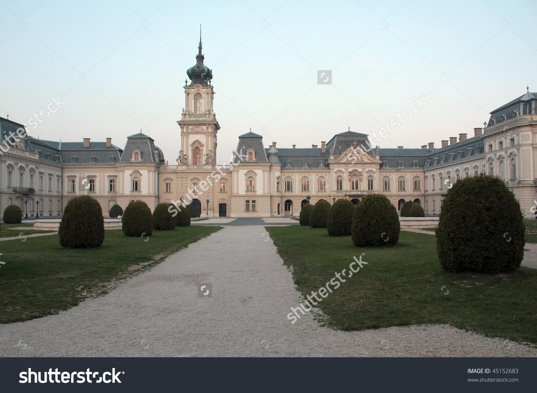 The Baroque Castle Of Keszthely, Balaton Lake, Hungary Stock Photo.
