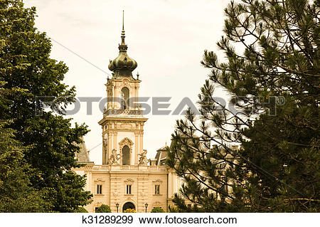 Stock Photograph of Famous castle in Keszthely k31289299.