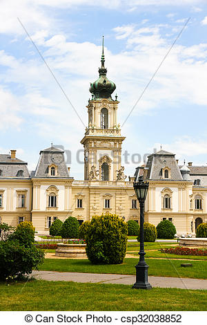 Stock Images of Famous castle in Keszthely, Hungary, Europe.