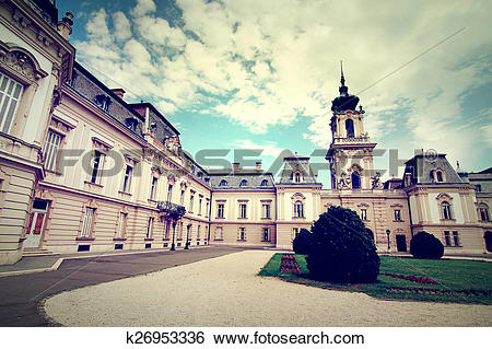 Stock Images of Famous castle in Keszthely k26953336.