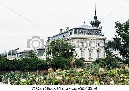 Stock Images of Festetics palace, Keszthely, Zala county, Hungary.