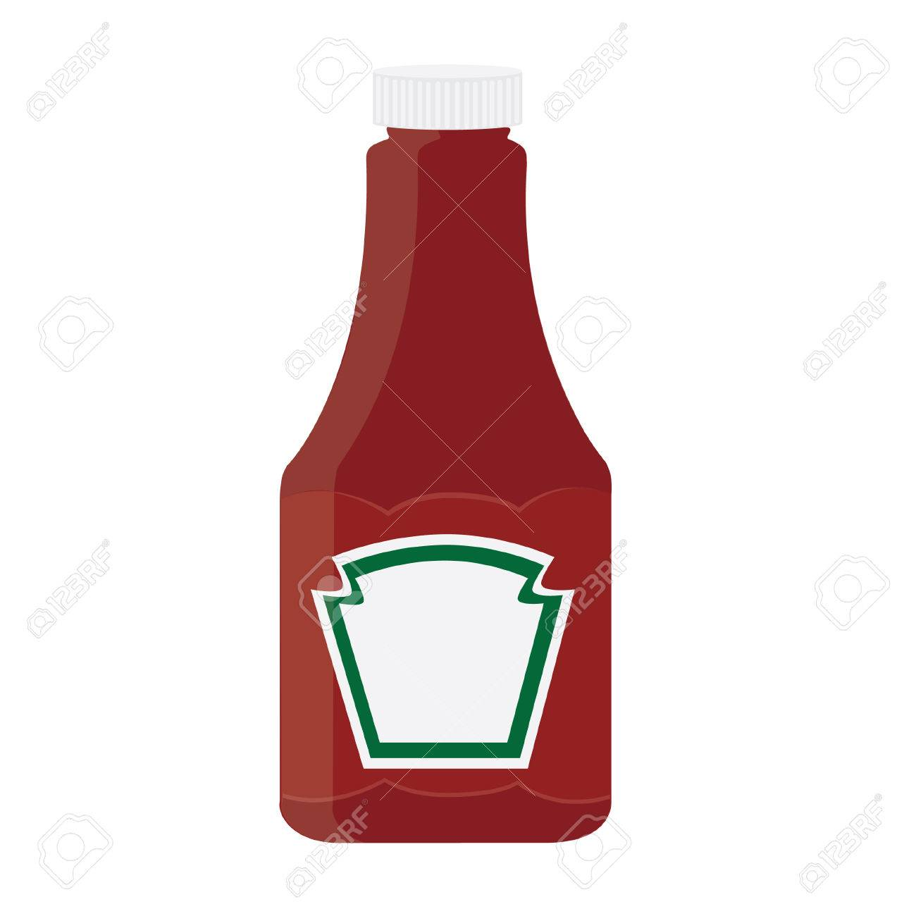 Ketchup bottle, tomato sauce, ketchuo isolated, ketchup vector.