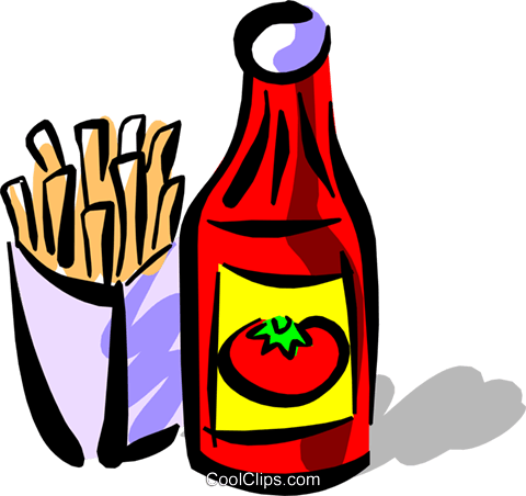 Ketchup Royalty Free Vector Clip Art illustration.