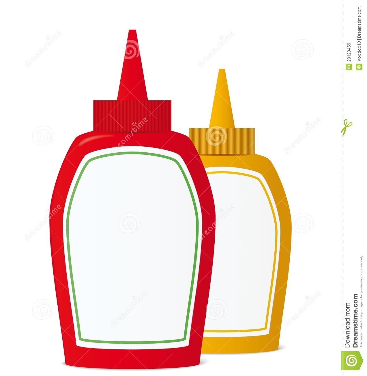 Mustard And Ketchup Clipart.