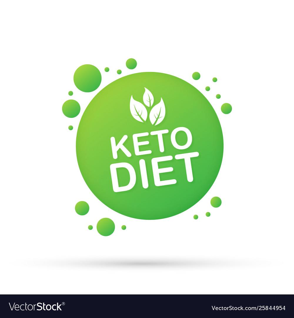 Ketogenic diet logo sign keto diet.