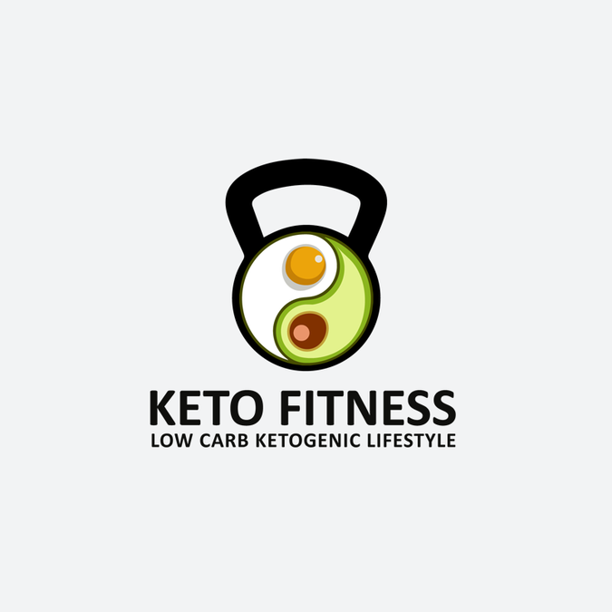 Ketogenic (Low Carb) Lifestyle Logo Design for Keto.Fitness.