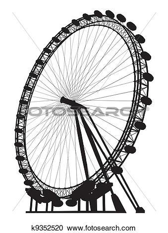 Clipart of Carousel Silhouette k9352520.