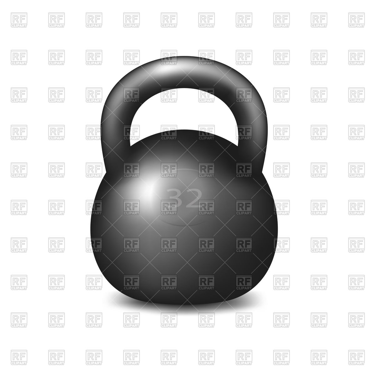 Athletic kettlebell on white background Stock Vector Image.
