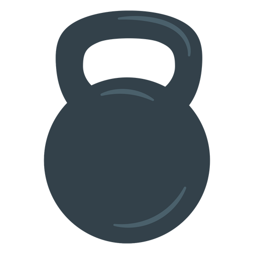 Training kettlebell icon.