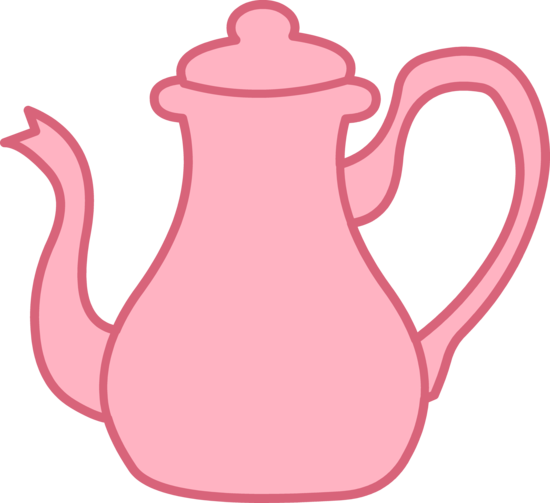 Pink Tea Kettle Clipart.