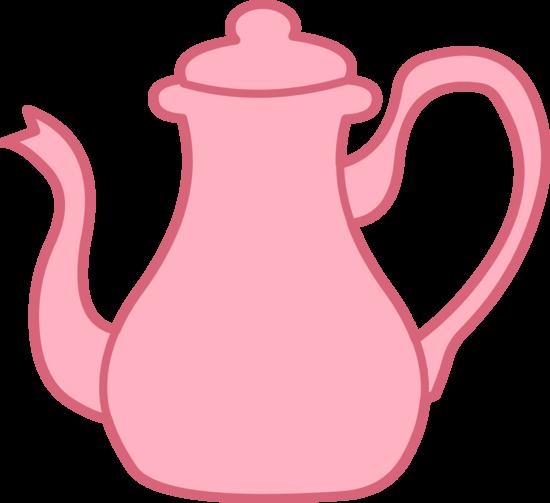 Pink Tea Kettle Clipart.