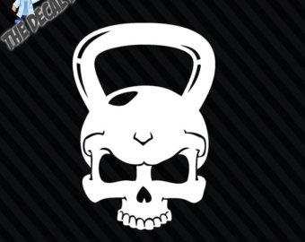 Kettlebell Skull Clipart.