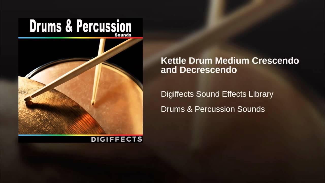 Kettle Drum Medium Crescendo and Decrescendo.
