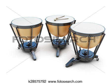 Clip Art of Kettledrums on a white k28575792.