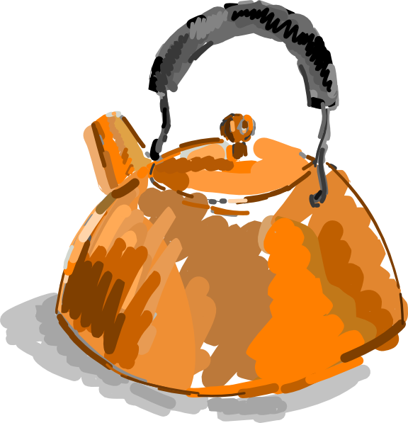 Copper Kettles Clipart.