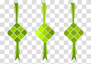 Ketupat , ketupat, green kite logo transparent background PNG.