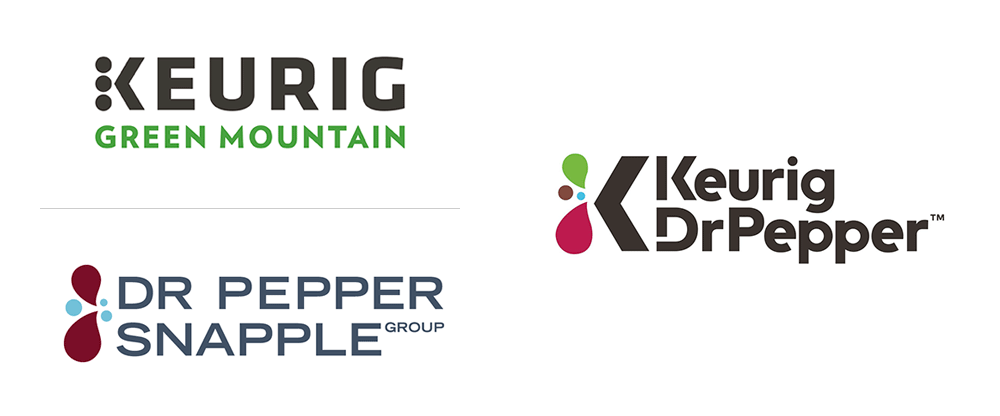 Brand New: New Name and Logo for Keurig Dr Pepper.