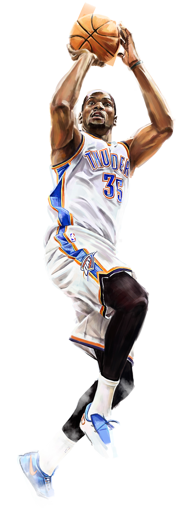 Kevin durant clipart thunder.