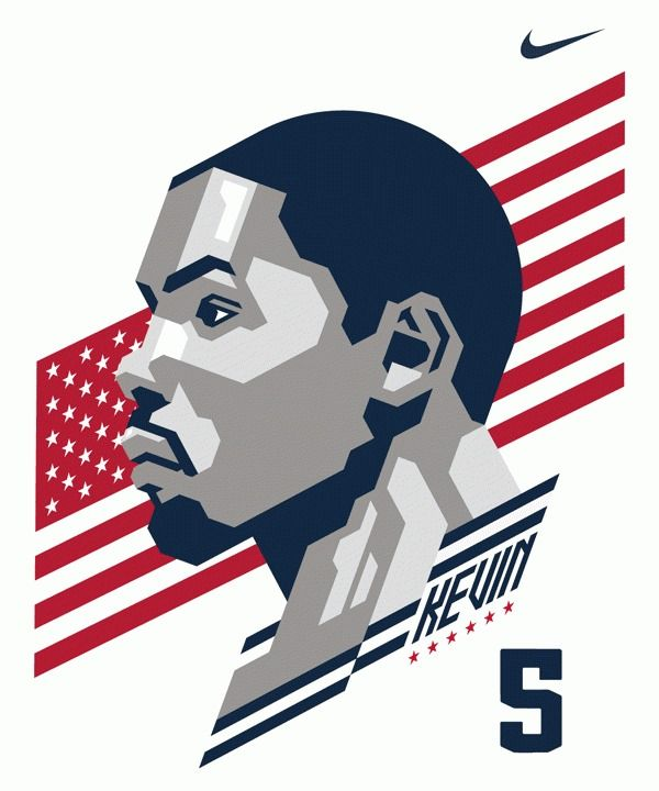Kevin durant logo clipart.