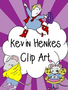 Kevin Henkes Clipart, Lilly, Owen and Wemberly.