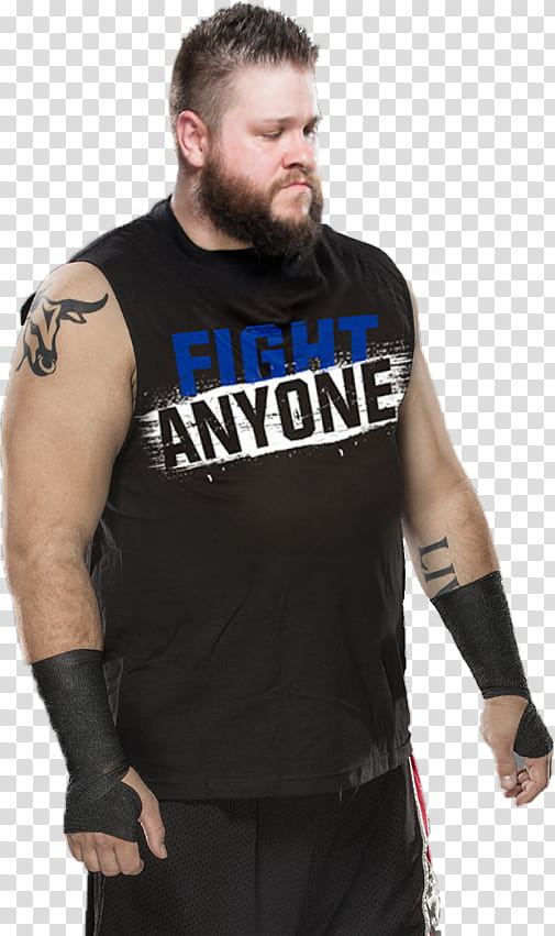 Kevin Owens Fight Anyone Shirt transparent background PNG.